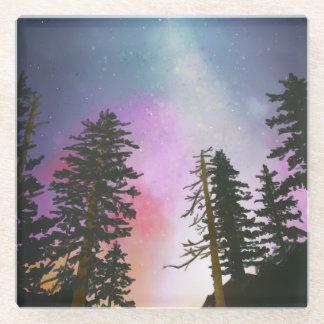 天国まで照る美しい夜空 ガラスコースター