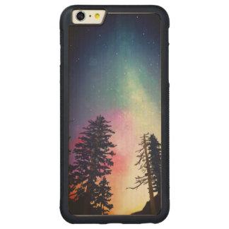 天国まで照る美しい夜空 CarvedメープルiPhone 6 PLUSバンパーケース