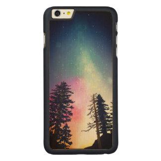 天国まで照る美しい夜空 CarvedメープルiPhone 6 PLUS スリムケース