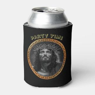 天国を見ているイエス・キリスト 缶クーラー