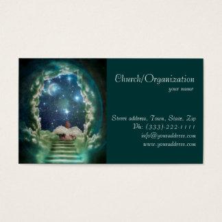 天国教会牧師カードのベビーの天使 名刺