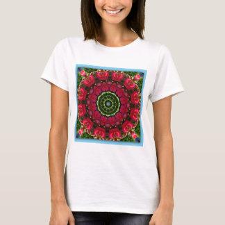 天国01のバレンタインの挨拶のハート Tシャツ