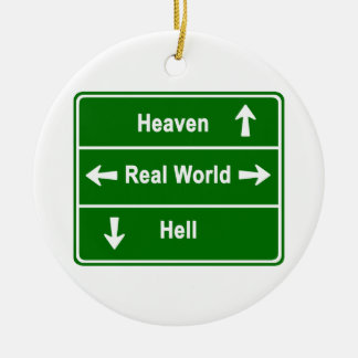 天国、現実の世界及び地獄 セラミックオーナメント