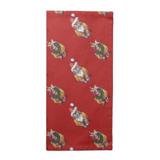天地のショウガ猫のクリスマスパターン ナプキンクロス