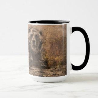 天恵ブラウンは石に関係します マグカップ