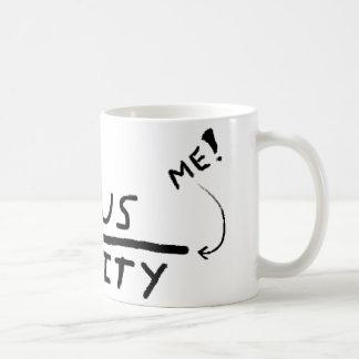 天才と精神異常間のライン コーヒーマグカップ