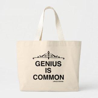 """""""天才共通の""""はジャンボ戦闘状況表示板です ラージトートバッグ"""