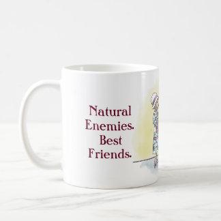 天敵。 親友 コーヒーマグカップ