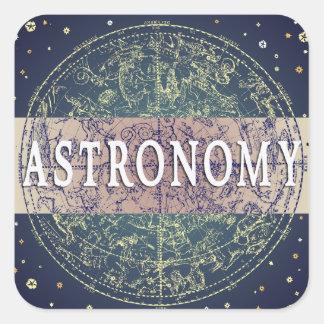 天文学のジャンルの表紙の正方形のステッカー スクエアシール