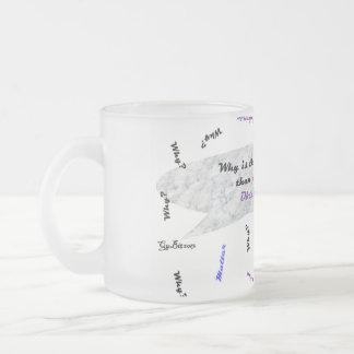 天文学の物理学のコーヒー・マグの大理石 フロストグラスマグカップ