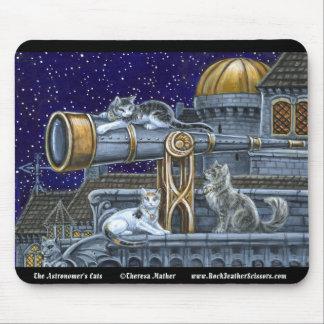 天文学者の猫のマウスパッド マウスパッド