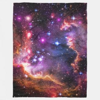 天文学、星明かりのウィングチップ、小さいMagellanic雲 フリースブランケット