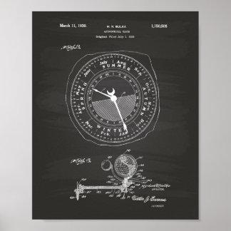 天文時計1922のパテントの芸術の黒板 ポスター