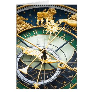 天文時計 カード
