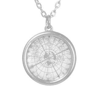 天文時計 シルバープレートネックレス