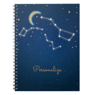 天星座を熟視する北斗七星の星 ノートブック
