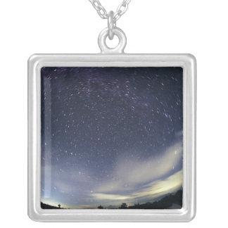天極付近の星 シルバープレートネックレス