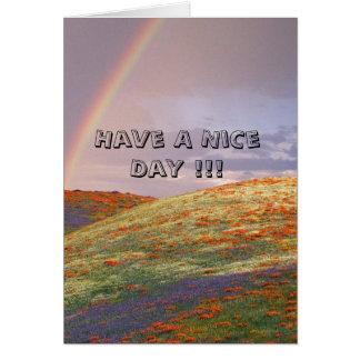 天気の良い日を!過して下さい!! カード