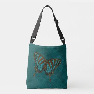 天然アゲハチョウの全にプリントのバッグ クロスボディバッグ