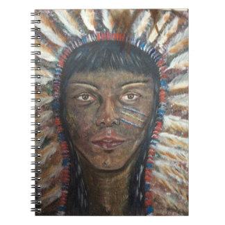 天然アメリカインディアンのノート ノートブック