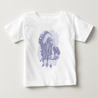 天然アメリカインディアンの主な青 ベビーTシャツ
