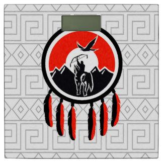 天然アメリカインディアンの盾 体重計