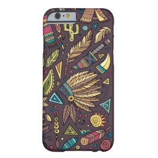 天然アメリカインディアンの種族の電話場合 BARELY THERE iPhone 6 ケース