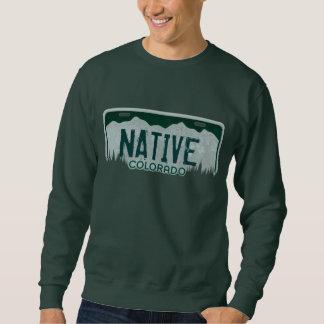 天然コロラド州のナンバープレートの人のスエットシャツ スウェットシャツ