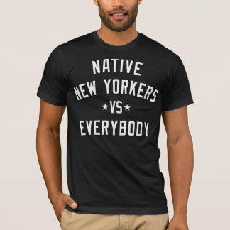 天然ニューヨーク対皆ワイシャツ Tシャツ