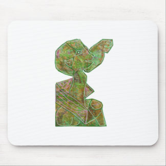 天然民族の精神の幽霊のマスクの紋章のサービス品 マウスパッド