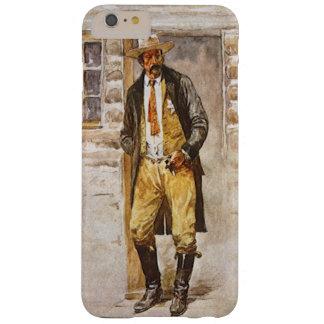 天然発泡ミネラルウォーター、ヴィンテージの西のカウボーイによる保安官のポートレート BARELY THERE iPhone 6 PLUS ケース