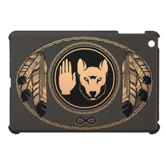 天然芸術のオオカミの旗のiPad Miniケースの暴動の場合 iPad Miniカバー
