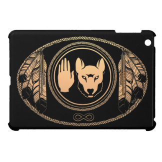 天然芸術のオオカミの旗のiPad Miniケースの暴動の場合 iPad Miniケース
