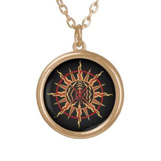 天然芸術のネックレスの精神的な要素の種族のギフト ゴールドプレートネックレス