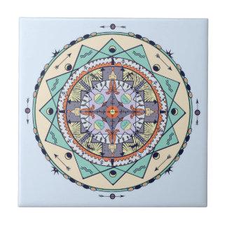 天然記号の曼荼羅のセラミックタイル タイル