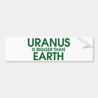 天王星は地球より大きいです バンパーステッカー
