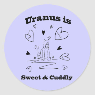 天王星は甘く及び愛らしいステッカーです ラウンドシール