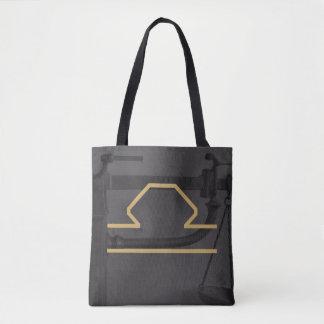 天秤座の(占星術の)十二宮図の印|のカスタムな背景 トートバッグ