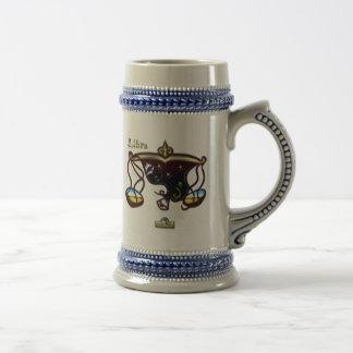 天秤座の(占星術の)十二宮図の印 ビールジョッキ