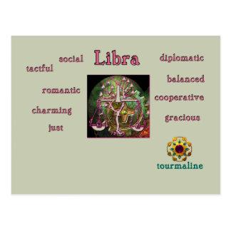 天秤座の(占星術の)十二宮図の特徴の郵便はがき ポストカード