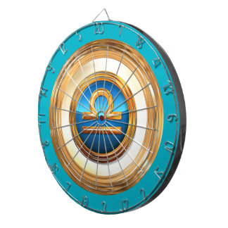 天秤座の(占星術の)十二宮図の記号 ダーツボード