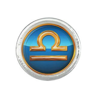 天秤座の(占星術の)十二宮図の記号 指輪