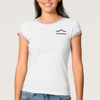 天秤座はポケットの紫色に署名します Tシャツ