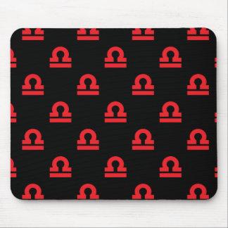 天秤座パターン赤 マウスパッド