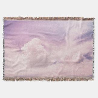 天空の紫色の雲 スローブランケット