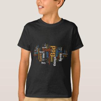 天空の表現の子供の黒いTシャツ Tシャツ