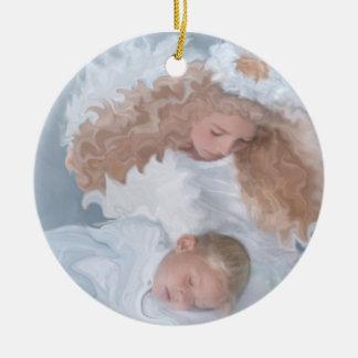 天空のGaurdianの天使の休日のクリスマスのオーナメント セラミックオーナメント