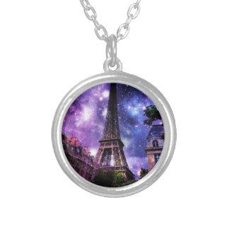 天EiffelTower シルバープレートネックレス