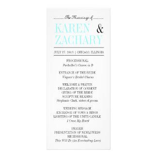 太字結婚式プログラム ラックカード