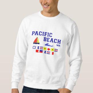太平洋のビーチWAのシグナルフラグ スウェットシャツ